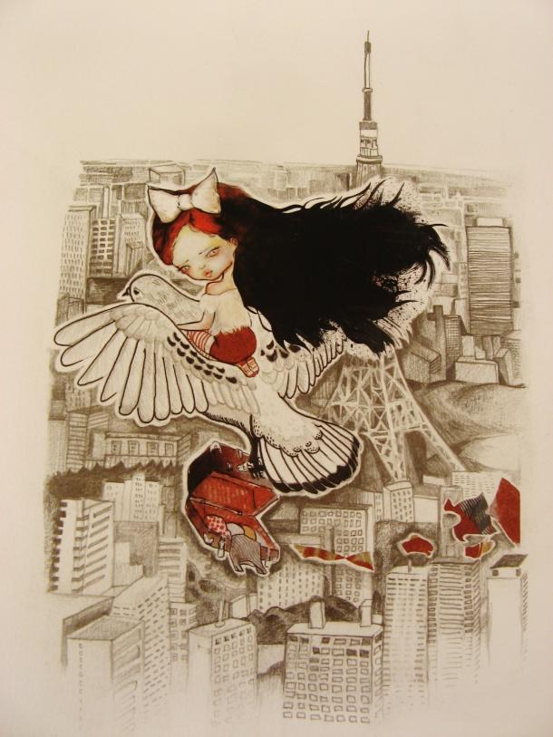 Kat cameron Tokyo tower illustration