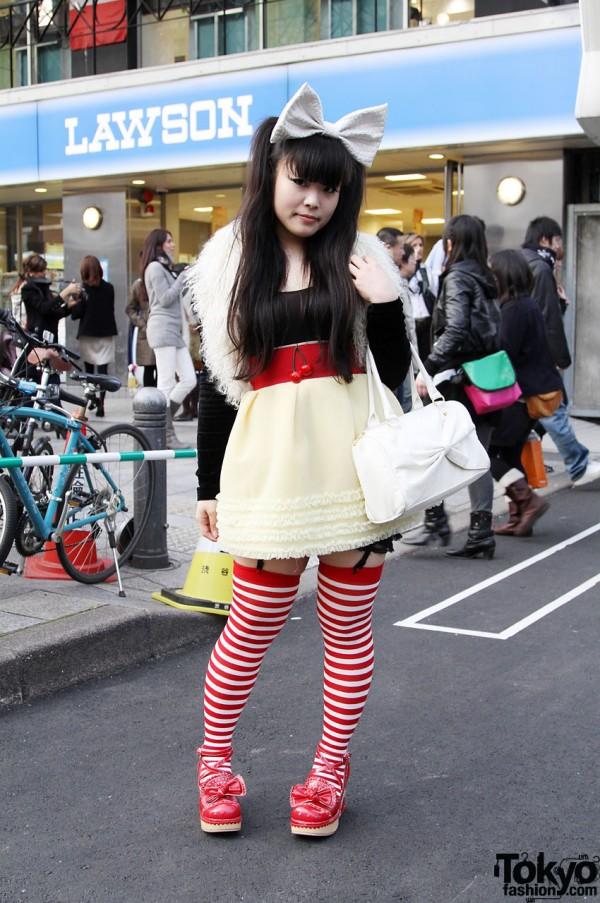 stripey legs tokyo fashion