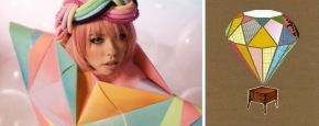 Origami Icecream Fashion + illustration Inspiration