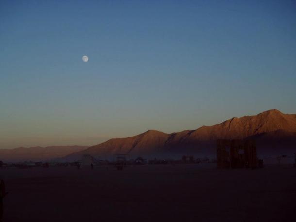 Burning man 2012 moon
