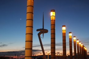 A wintery evening out inBarcelona